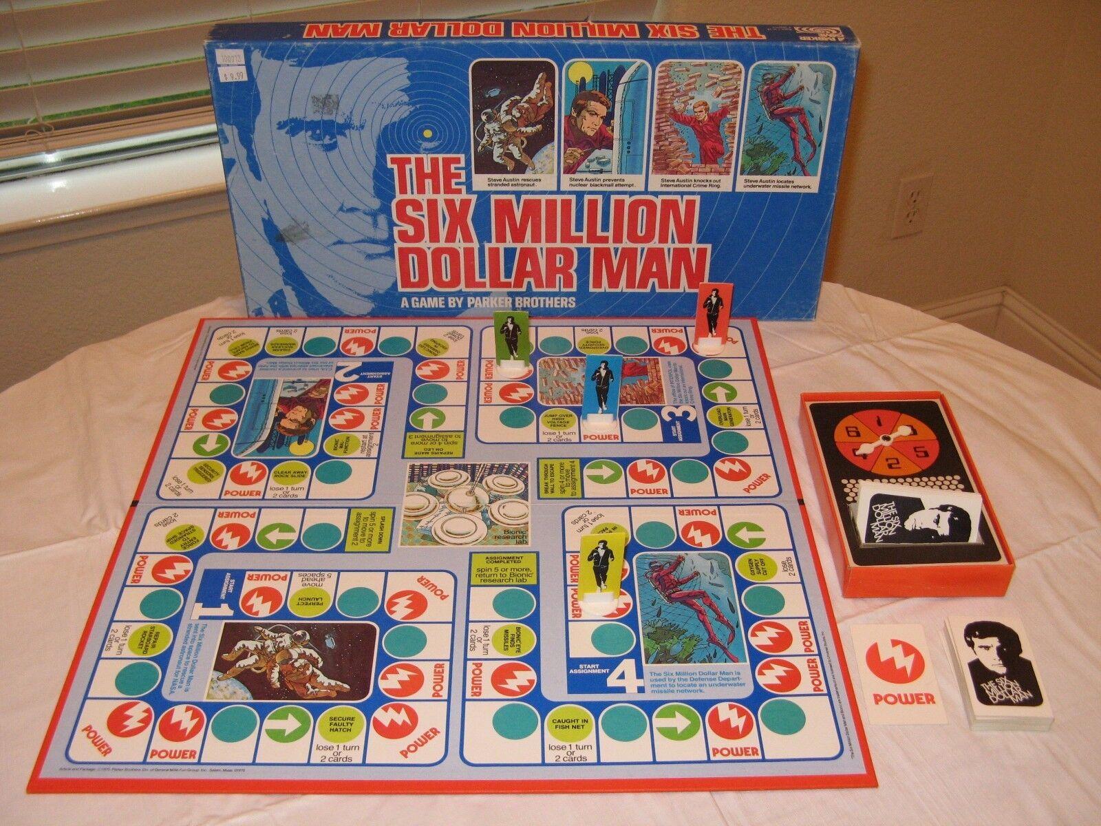 SIX MILLION DOLLAR MAN Board Game 1975 Parker Brossohers UNIVERSAL STUDIOS Steve