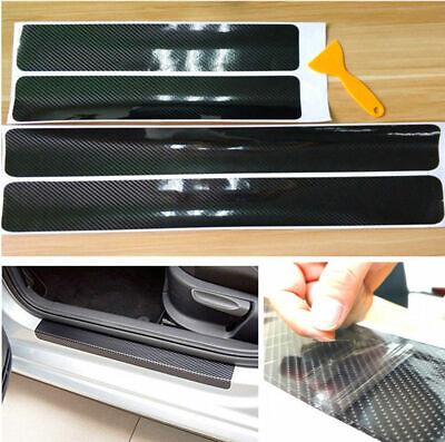 Car Parts Accessories Carbon Fiber Warp Door Plate Cover Anti Scratch Sticker