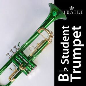 Green-Bb-CIBAILI-Trumpet-High-Quality-Brand-New-With-Case