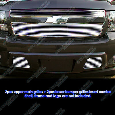 Fits 07-11 Tahoe/Suburban/Avalanche Phat Billet Grille Combo