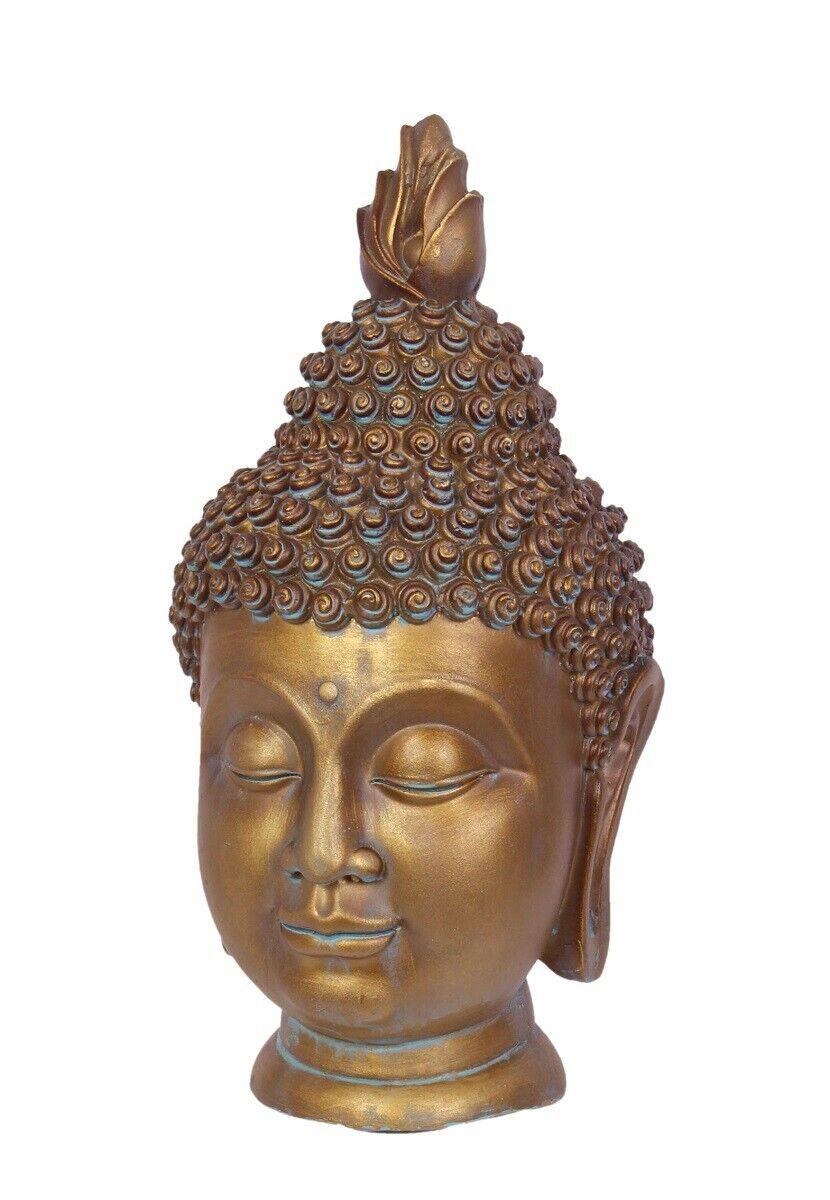 G2129  cabeza de Buda, jardín de oro, busto jardín personaje para jardines asiáticos