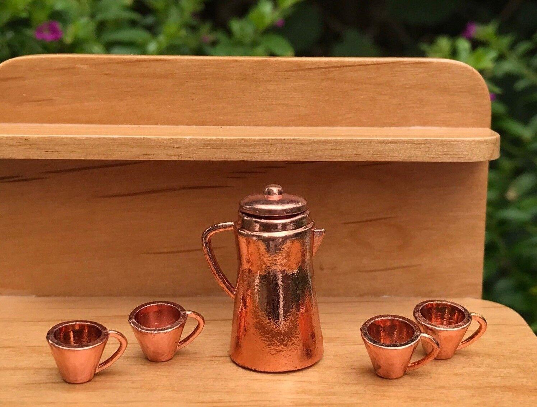 Miniature Dollhouse FAIRY GARDEN Accessories ~ Orange Teapot ~ NEW