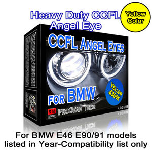 4300K-OEM-Yellow-Heavy-Duty-BMW-CCFL-Angel-Eyes-Halo-131-146-mm-E46-E90-E91