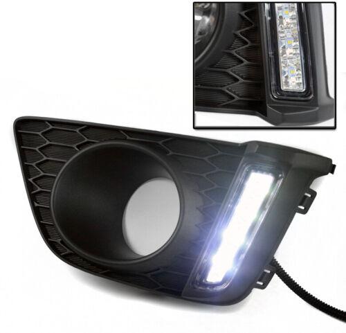 FOR 2015-2017 HONDA FIT JAZZ DRL LED BUMPER CHROME FOG LIGHT LAMP+HARNESS+3K HID