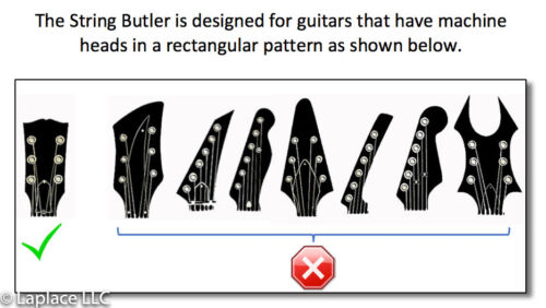 Black and Gold Guitar Tuning Improvement Device The String Butler V2 Lux