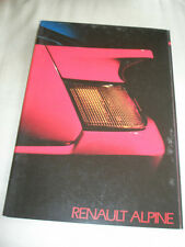 Renault Alpine range brochure c1985 Dutch text