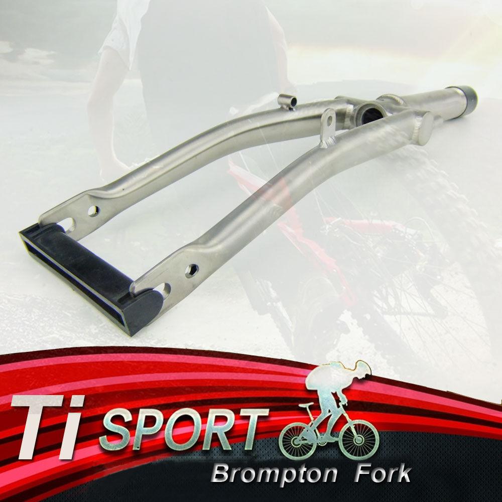 Ti Sport Titanium Fork for Brompton Folding Bike frame 1&1 8 -Threaded-270g