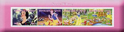 Africa Impartial Congo 2017 Mnh Snow White Seven Dwarfs 4v M/s Cartoons Disney Stamps