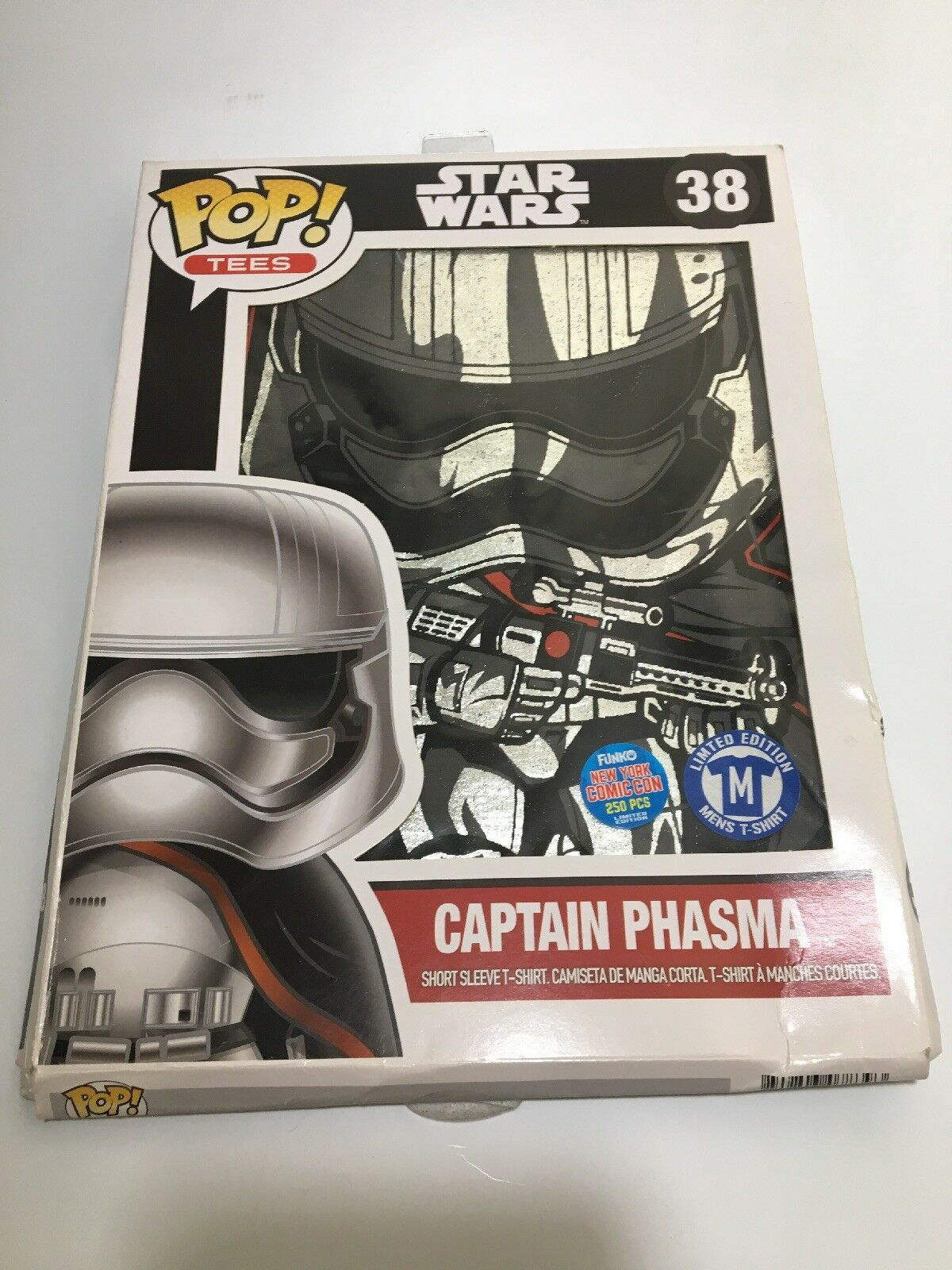 2015 nycc ny comic - con - exklusive funko pop - star - wars - captain phasma hemd m le 250