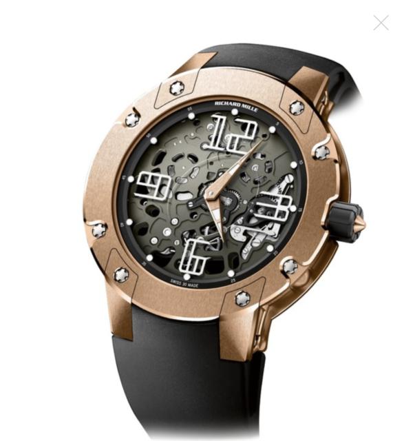 927705ccb6c9 Richard Mille Extra Plano Automático Esfera Gris Hombres 45mm Reloj Rm033
