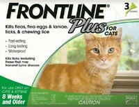 Frontline Plus For Cats - 3 Month - Epa Approved, Flea And Tick Treatment