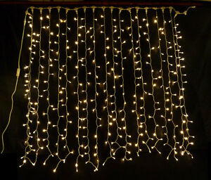 Image Is Loading WARM WHITE LED CURTAIN LIGHT IDEAL WEDDING BACKDROP