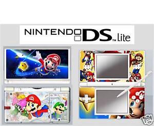 Details Zu Nintendo Ds Lite Mario 4 Piece Decal Sticker Skin Vinyl