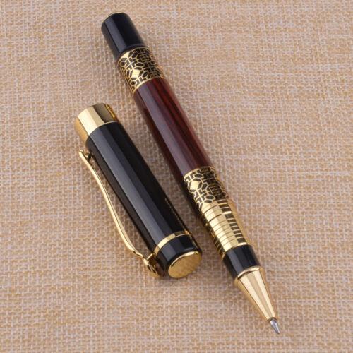 Carving Mahagoni Farbe Medium Nib Roller Füllfederhalter Schreibzubehör