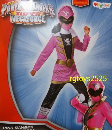 Power Rangers Super Megaforce Size 4-6 Small Pink Ranger Child Costume New girls