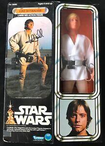 Mark Hamill    signé 1977 par Ken Star de Star Wars dans une boîte Jsa  luke Skywalker   Inch In Box Jsa