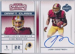 JOSH-DOCTSON-2016-Contenders-Draft-Class-On-Card-SP-AUTO-Redskins-RC