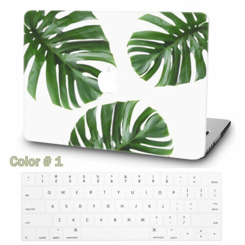 Tropical Plants Leaf Painted Hard Rubberized Case Cover For New Macbook Pro Air