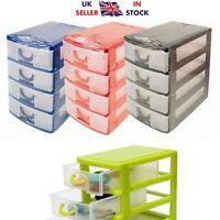 4 Plastic Mini Drawer Storage Unit Organizer Box Kitchen and Jewelry Solutions