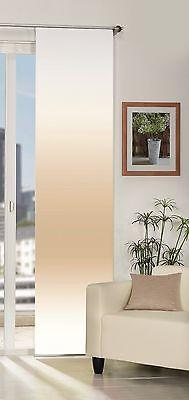 Schiebegardine blickdicht Digitaldruck Farbverlauf natur 60cm x 245cm