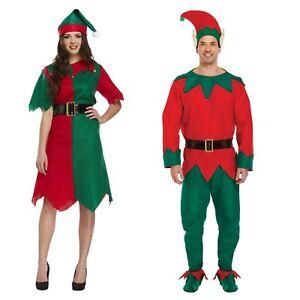 Noel-adulte-ELFE-costume-deguisement-costume-femme-ou-homme-fete-Noel-NEUF