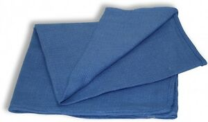 10 NEW BLUE GLASS CLEANING SHOP TOWEL/HUCK TOWELS JANITORIAL LINT FREE 15''X25''