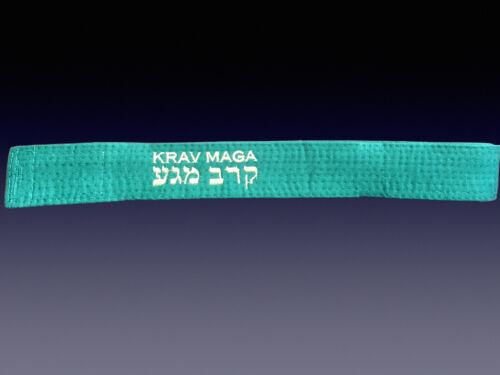 KRAV MAGA BELTS EMBROIDERED KRAV MAGA IN ENGLISH AND HEBREW