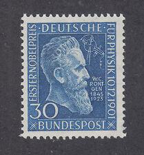Germany Sc 686 MNH. 1951 30pf blue W.C. Rontgen, cplt set, F-VF