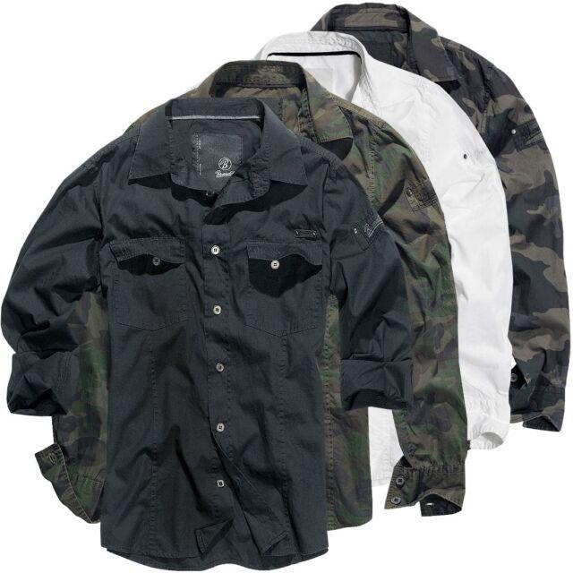 BRANDIT Herren Hemd langarm 4005 Slim Fit Shirt Herrenhemd Polo Langarmshirt Neu