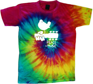 Woodstock-tie-dye-t-shirt-peace-and-music-shirt-tie-dyed-guitar-shirt-tee-shirt