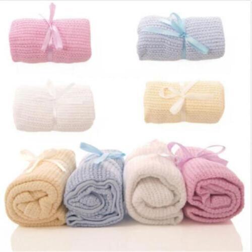 Cotton Baby Cellular Blanket Pram Cot Bed Basket Cribs Crib 70 x100cm DP
