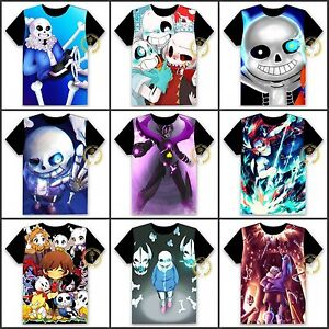Anime Undertale Sans/Papyrus Skeleton T-shirt HD Printing Cosplay