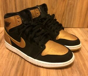 wholesale dealer 65000 8c76a RARE 🔥NIKE Air JORDAN 1 RETRO MELO METALLIC GOLD BLACK 332550 026 ...