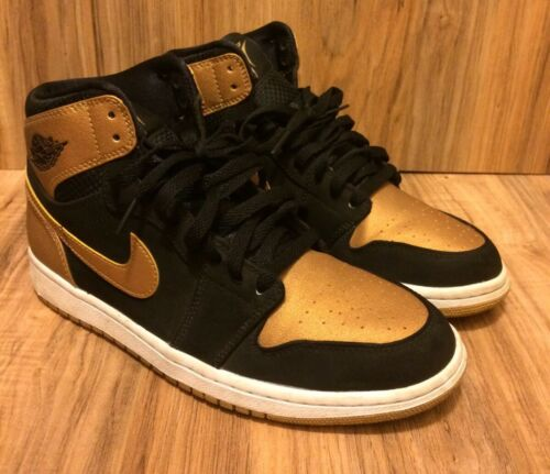 Retro 332550 1 Melo 5 Metallic Sz Jordan Air Nike 8 026 Gold Negro Raro IqfwgAH4