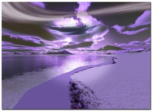 Santacruz 60cm x 40cm Purple Canvas Large Digital Canvas Art Abstract Prints