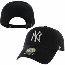 '47 Brand New York Yankees Black Basic Logo Clean Up Adjustable Hat - MLB