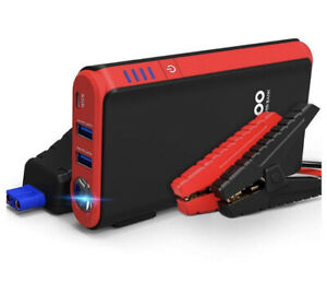 GOOLOO Quick Charge in & Out Port, 500A Peak SuperSafe Car Jump Starter w/USB