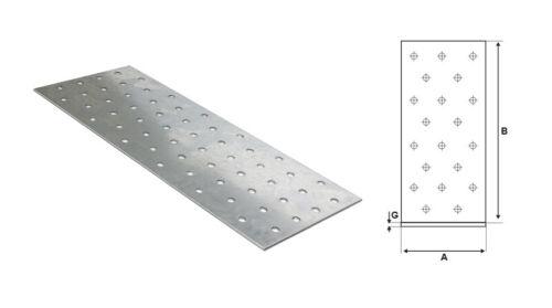 STALCO FLACHVERBINDER 80x180mm 25STK Lochplatten Holzverbinder Nagelplatte Holz