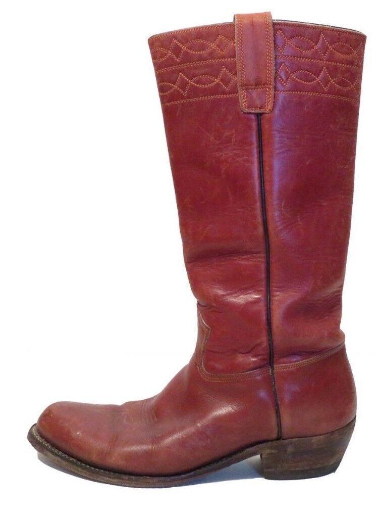Vintage Stirrup 70s Cognac Farbe Stirrup Vintage Cowboy Stiefel Größe 10 069b3f