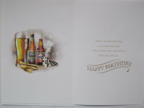 FANTASTIC COLOURFUL LOVELY WORDS TO AN AMAZING DAD BIRTHDAY GREETING CARD