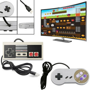 Details about 2Pcs NES+SNES Classic Wired USB 1 5 Controller Gamepads for  Windows PC MAC Win98