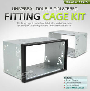 double din Radio metal Mounting Sleeve//cage tested dealer stock