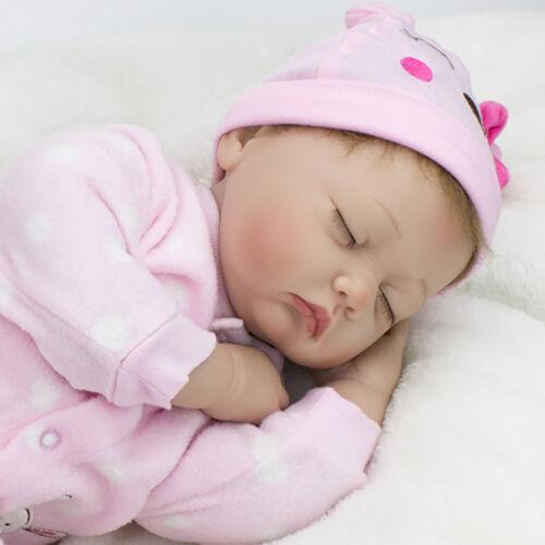 "22/"" Handmade Baby Girl Doll Lifelike Vinyl Silicone Reborn Newborn Dolls+Clothes"