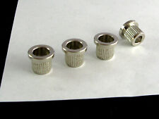 """3//8/"""" or 6 NICKEL BLACK GOLD 5 NEW Smooth 9.5mm Bass String Ferrules Set of 4"""