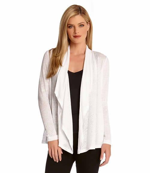 Karen Kane New Drape Off-White Long Sleeve Open Cardigan Size XL (NWT  88.00)