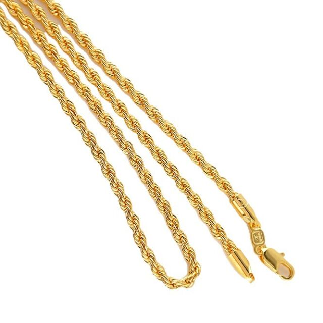 Necklaces & Pendants Fashion Jewelry 24inch 18k Gold Filled Necklace Terrific Value