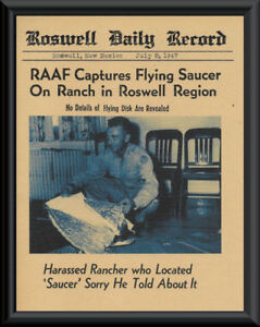 1947-Roswell-UFO-Crash-Fantasy-Newspaper-Cover-Printed-On-70-Year-Old-Paper-P022