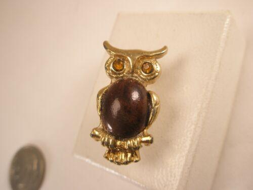 Vintage Toshikane Japanese Arita Porcelain Owl Tie Tack