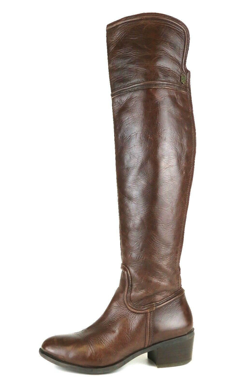 Vince Camuto Baldwin Over Knee Leather Boot Brown Brown Brown Women Sz 8 M 5419  e7747e