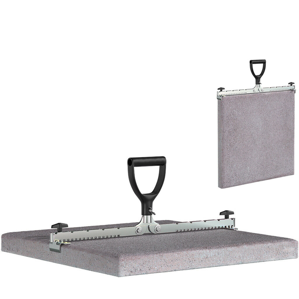 LANGFIT® Profi Plattenheber bis 620 mm + 60kg Plattenzange Plattengreifer Heber